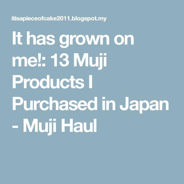 It has grown on me!: 13 Muji Products I Purchased in Japan - Muji Haul