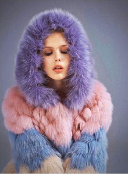 Pastel Fur Coat February 2017