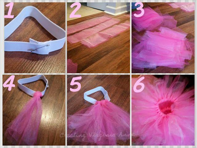 TuTu Center Pieces - Baby Shower - DIY  #CreatingVirginiaAnne
