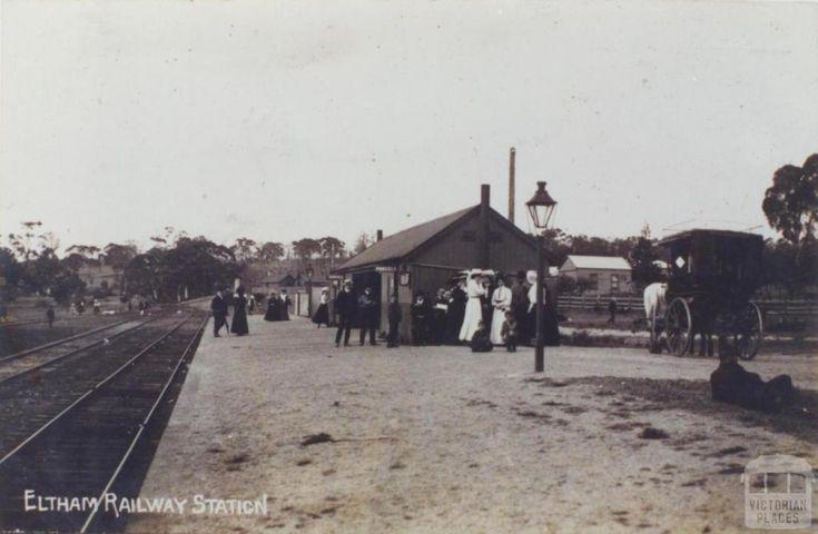 Eltham Railway Station, 1907