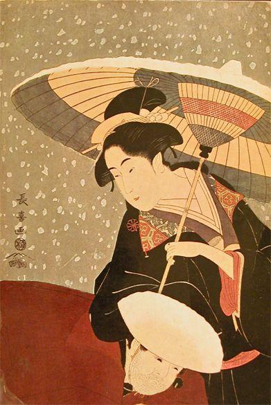 Ukiyo-e print. Japanese art.