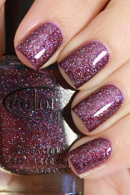 Gift of Sparkle Color Club  grape fizz nails