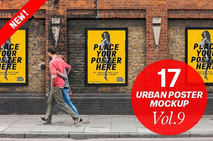 Urban Poster Mock-up VOL.9 by Urban Poster Mockup on @creativemarket