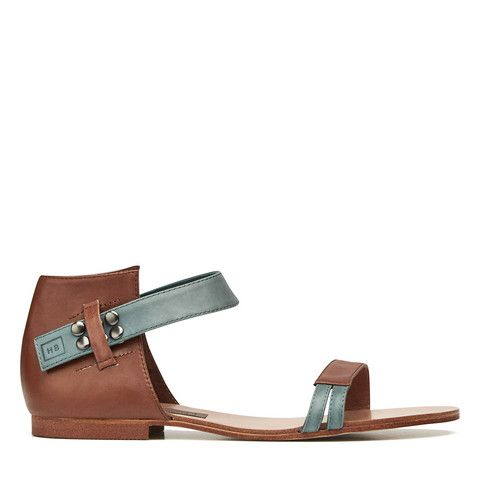 Dreambeliever Sandal - Dark Tan/Denim – Harlequin Belle