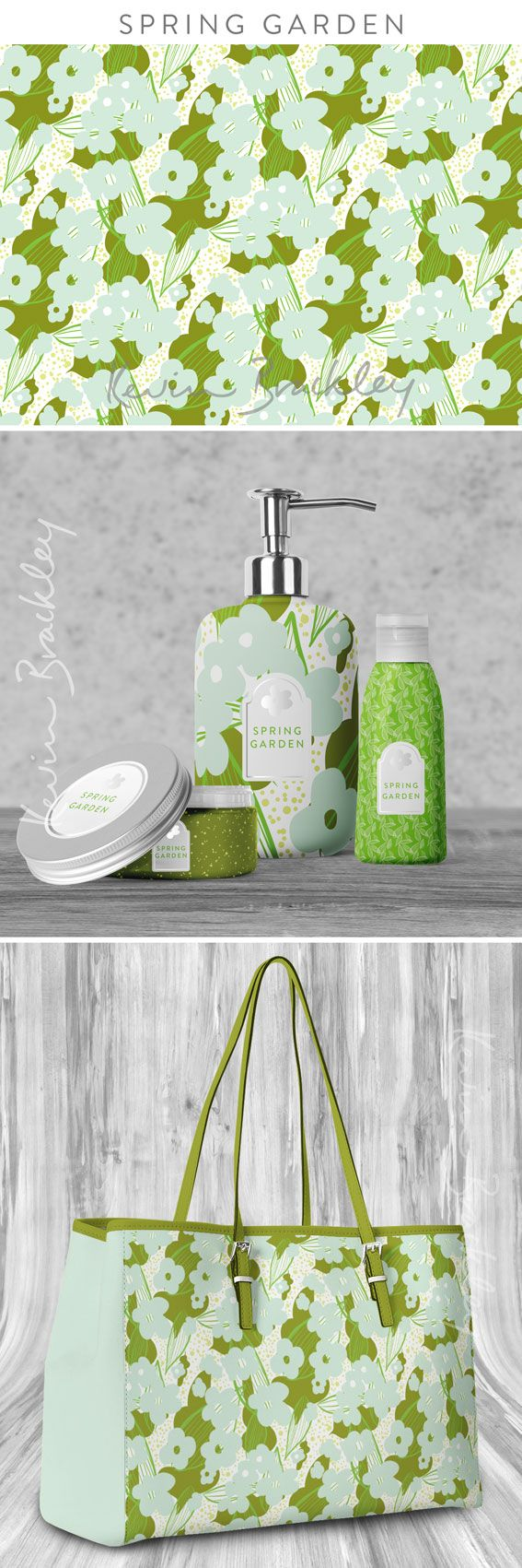 Cosmetic packaging and bag concepts in my Spring Garden collection