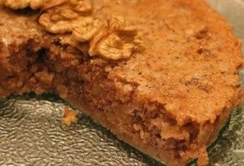 gâteau aux noix (grootmoeders walnoten taart)