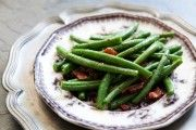 French Green Beans with Butter and Herbs Recipe      Yield: Serves 4.  Use fresh herbs if available. If not, you can used dried, but use...
