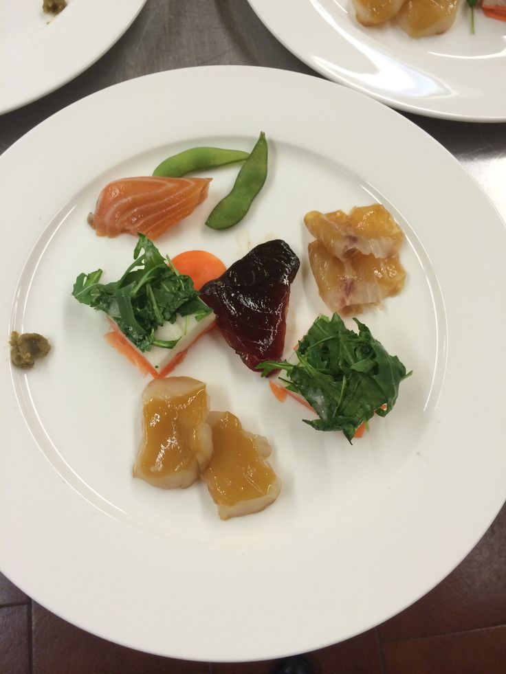 "Cooking with Miso: marinated sashimi (2 to 4 hrs) Fushiki san at La Cucina Italiana ""miso class"""