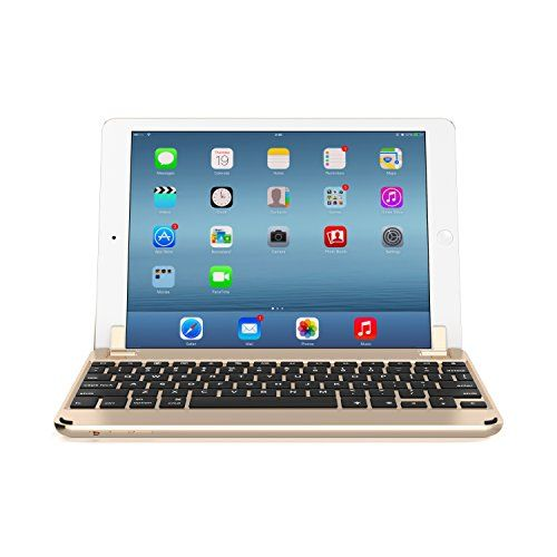Cheap Brydge 9.7 Bluetooth Backlit Aluminum QWERTZ German Keyboard for iPad Air iPad Air 2    iPad Pro 9.7-inch - Gold Best Selling