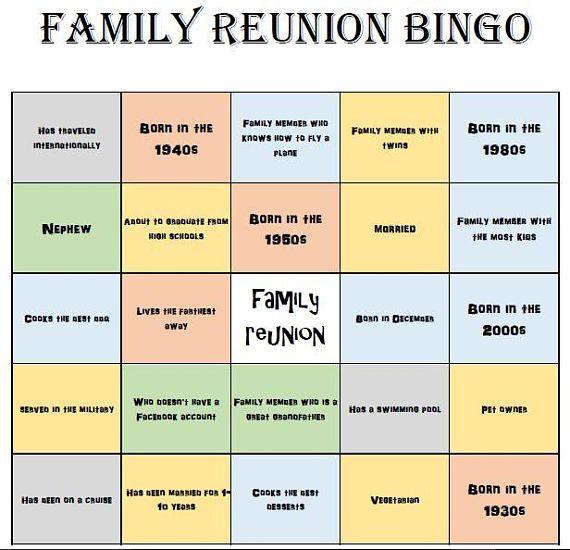 Family Reunion Bingo Cards Mix Mingle Style Bingo Etsy In 2021 Family Reunion Bingo Family Reunion Themes Family Reunion