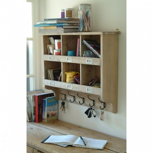 Wall Unit With Hooks Shelves With Cubby Holes The Home