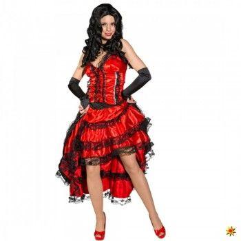 Kostüm Saloon Girl, rot-schwarz kaufen