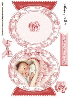 VINTAGE BABY GIRL QUICK CARD on Craftsuprint - Add To Basket!