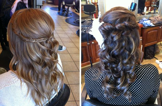 Hair and Make-up by StephHair Ideas, Hair Up Do, Makeup, Curls, Hair Style, Pretty Hair, Dresses Hair, Formal Hair