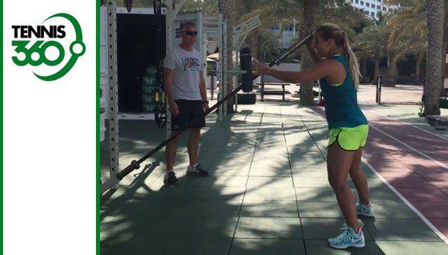 Watch Dominika Cibulkova's impressive workout routine in Dubai ahead of 2018 season - Vi...