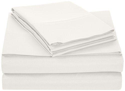 AmazonBasics Microfiber Sheet Set - King Cream