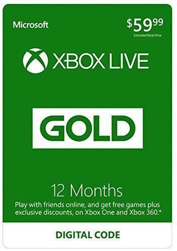Xbox Live 12 Month Gold Membership - Digital Code