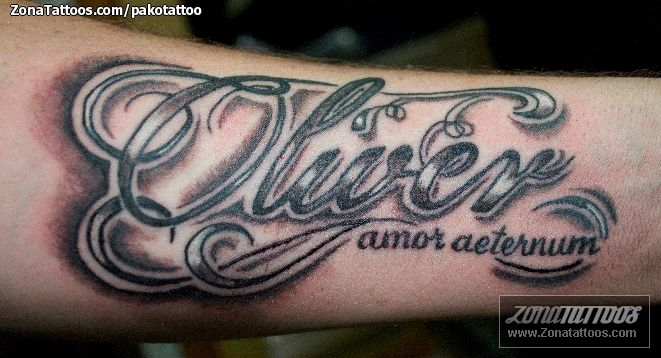 tatuaje nombre oliver - Buscar con Google