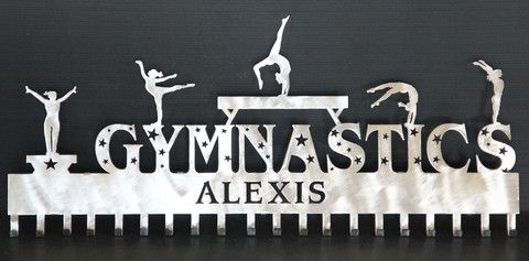 Premier Gymnastics Medal Display: Personalized Gymnastics Medals Holder: Gymnastics Medals Hanger....Unbeatable Selection of Personalized Gymnastics Medal Holders with Hundreds of Design Combinations.