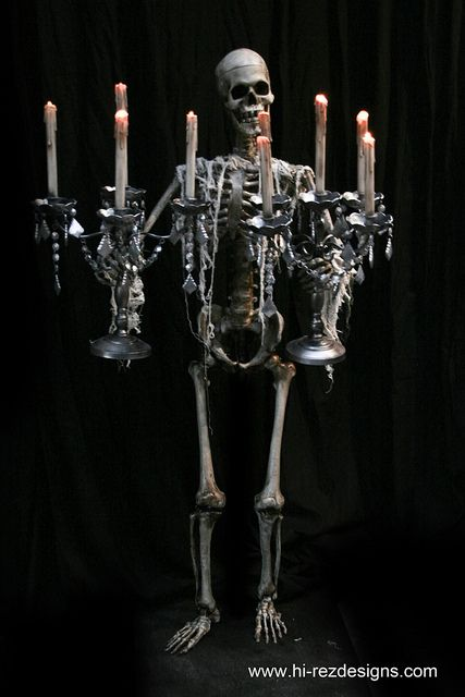 Skeleton candelabra