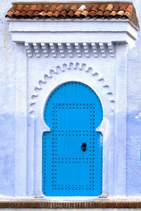 Doorway in Chefchaouen.