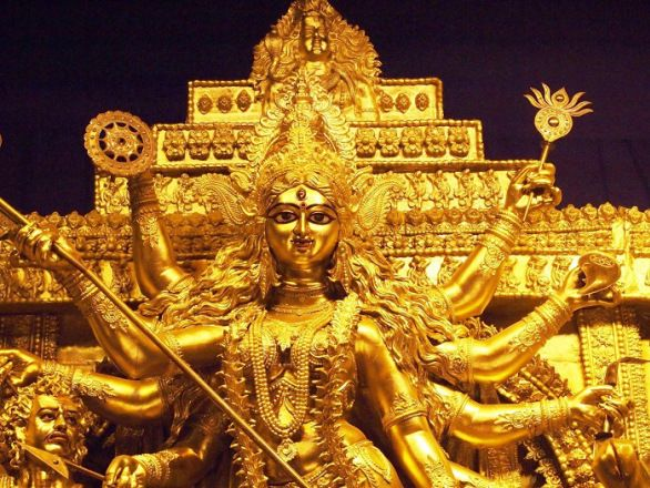 9 best navratri durga puja 2015 wallpapers images on for Aarti thali decoration in navratri