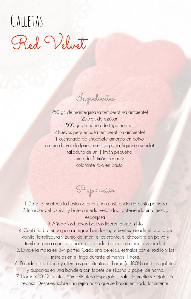 Galletas 'Red Velvet' (para decorar): deliciosamente vibrantes