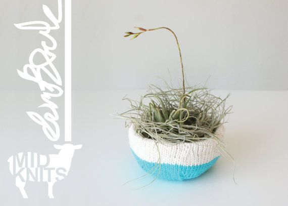 DIY Knitting PATTERN Color Blocked Nesting Bowls by Midknits