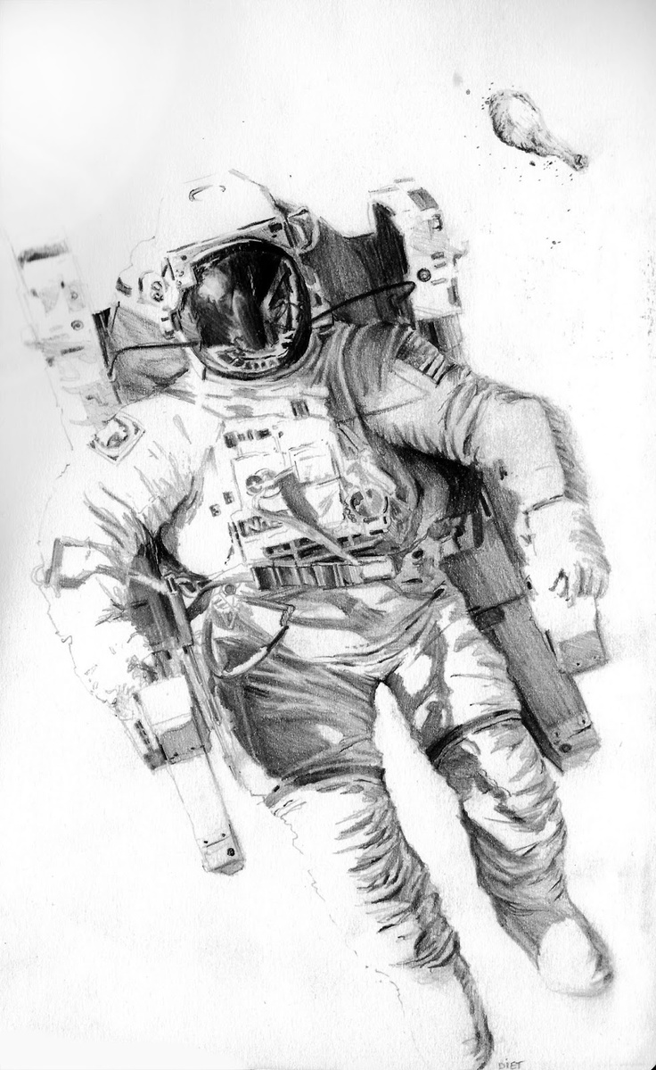 astronaut space drawing - photo #15