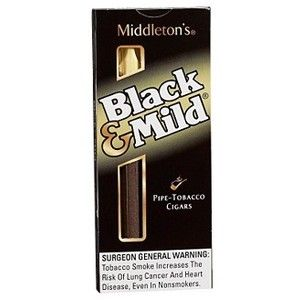 Middleton Black And Mild Natural Cigarillo Cigars - Short Filler, Natural Wrapper, Mild Strength, 30 Gauge, 5 Inches, Usa, Cigarillo, Middleton Brand | Thompson Cigar