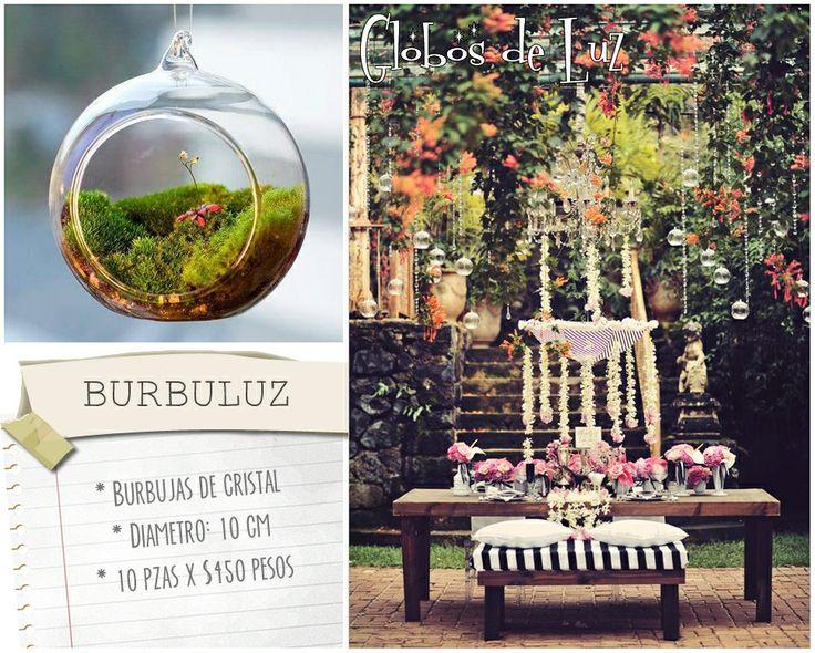 burbuluz esferas de cristal bubujas de vidrio ideas originales para decorar boda
