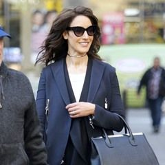 "Actress/Model Jennifer Beals seen leaving the ""Today"" TV show in New York (327617)"