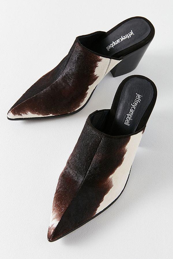 075cea8738b1 Jeffrey Campbell Deuce Calf Hair Mule Heel
