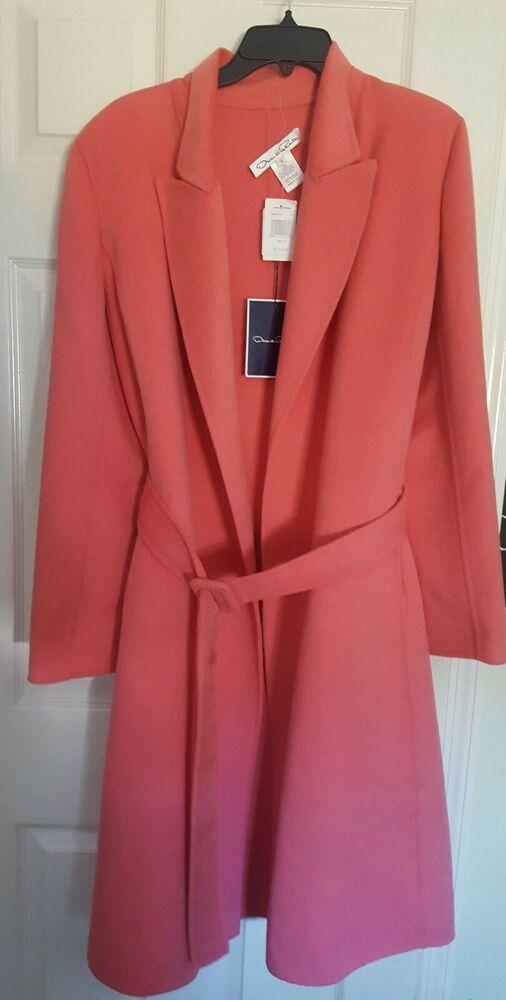 76120c6768e eBay #Sponsored NEW Oscar De La Renta Wool Angora Cashmere Swing Belted Coat  Pink $3190 size 10