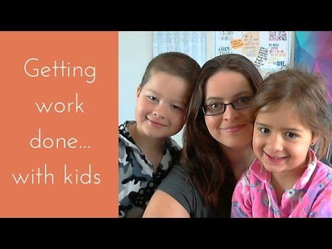 Getting work done with kids around. A realistic look at being productive while the kids are on school holidays