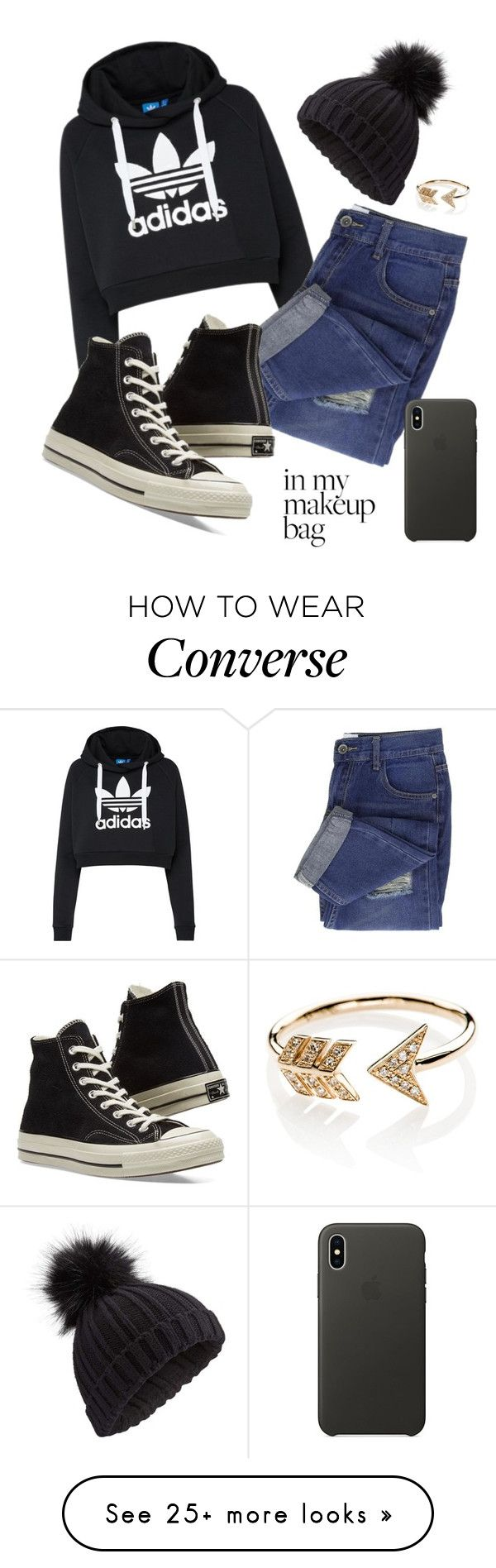 """""""Untitled #55"""" by mcxn on Polyvore featuring adidas Originals, Converse, Miss Selfridge, EF Collection and Apple"""