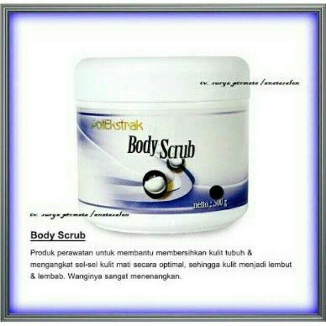 Saya menjual Body Scrub Poliekstrak (Scrub Tubuh) seharga Rp95.000. Ayo beli di Shopee! {{product_link}}