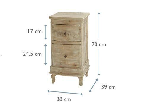 Bastille | Beautiful Bedside Table With Storage | Loaf