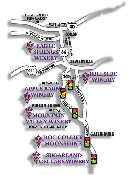 Rocky Top Wine Trail map