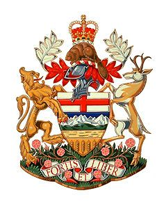 Alberta Coat of Arms  Coat of Arms for Alberta (artwork by Karen Bailey/courtesy Library and Archives Canada). Provincial and Territorial Emblems - The Canadian Encyclopedia
