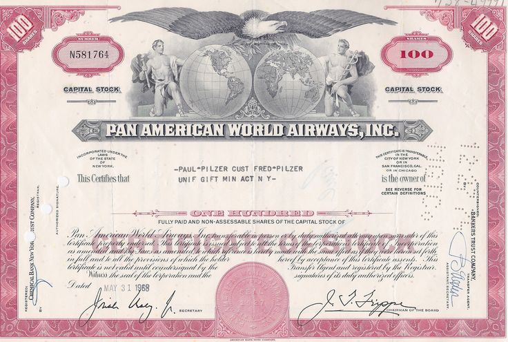 Peekskill Hydro-Aeroplane Company circa 1912 stock certificate - company share certificates