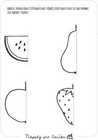 Dokreslování - ovoce