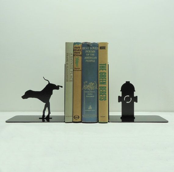 Fire Hydrant Metal Art Bookends  Free USA by KnobCreekMetalArts, $46.99