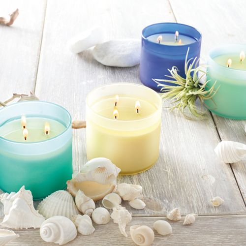 Life's a beach with perfect summer Candles! West Coast cool Candles & Hand Soaps with scents like Sunset Beach, Ocean Driftwood & Turquoise Waters!  #BBWInsider