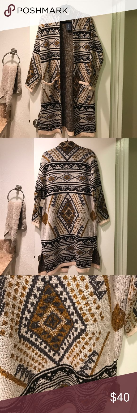 Tribal Print Cardigan Brand new with tags Forever 21 Sweaters Cardigans