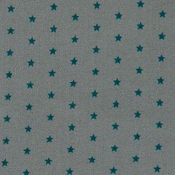 Baumwolle m/Sternen Dunkelgrau