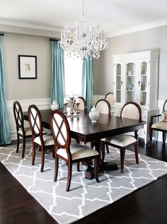 AM Dolce Vita: Dining Room Chandelier Reveal, Dining Room Crystal  Chandelier, Trellis Area Rug, Double Pedestal Dining Room, Oval Back Louis  Dining Chairs ...