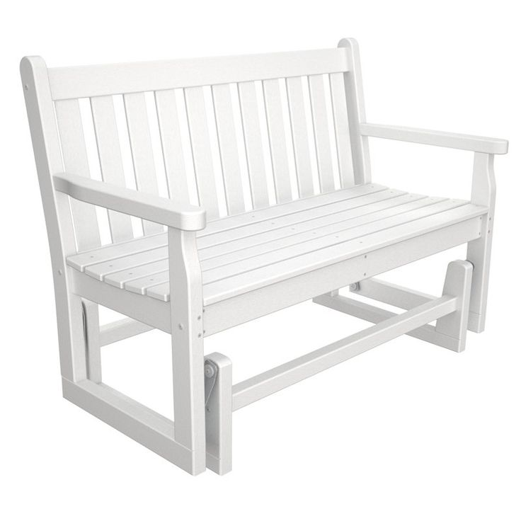 Have To Have It. POLYWOOD® Traditional Recycled Plastic 48 In. Outdoor  Glider Loveseat