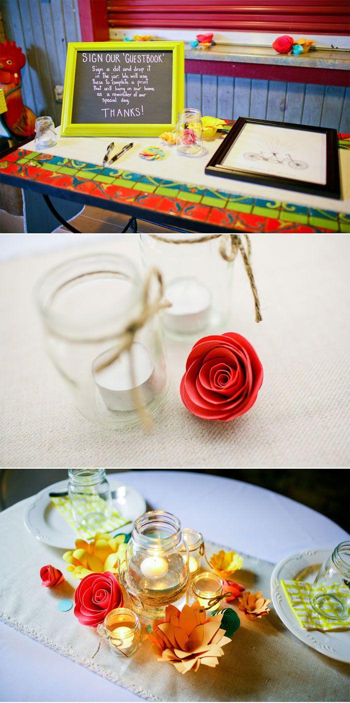 Whimsical DIY Paper Flower Wedding