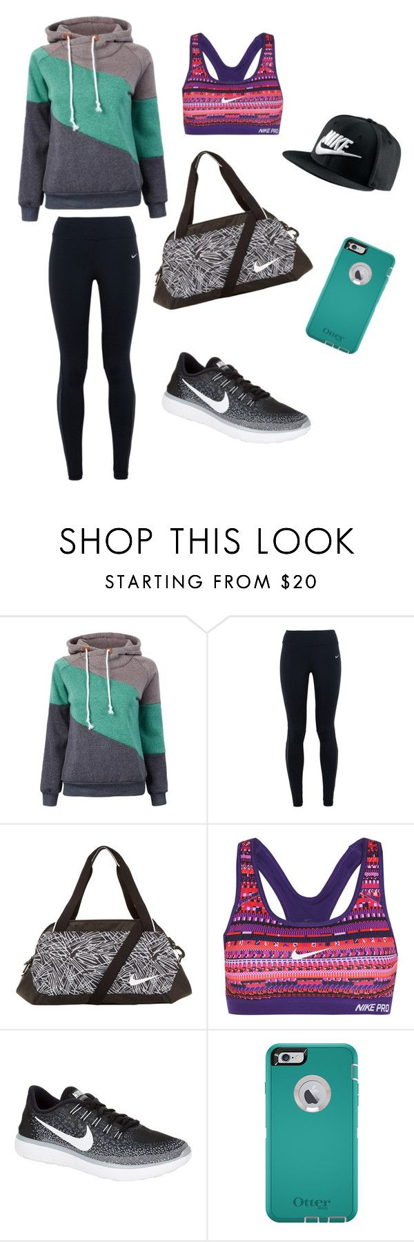 """""""Sporty look"""" by lexifrantti ❤ liked on Polyvore featuring NIKE, women's clothing, women's fashion, women, female, woman, misses and juniors"""